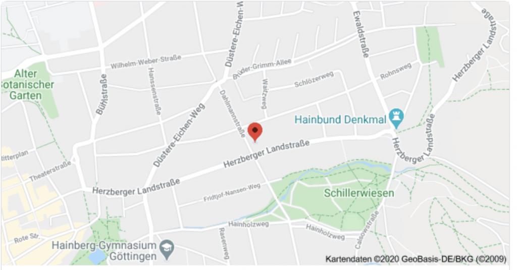 Wegbeschreibung Herzberger Landstraße